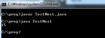 Nested class in Java