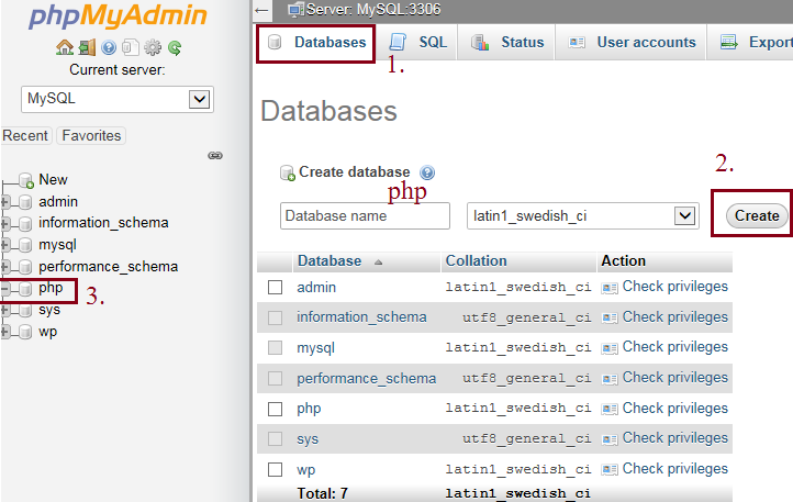 PHP MySQL Connect Database.
